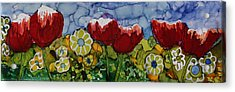 Acrylic Print featuring the painting Tulip Bonanza by Suzanne Canner