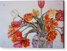 Tulip Bouquet - 12 Acrylic Print by Caron Sloan Zuger