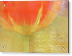 Tulip Acrylic Print by Catherine Alfidi