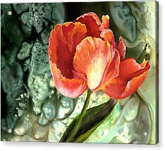 Acrylic Print featuring the painting Tulip Dance by Sherry Shipley