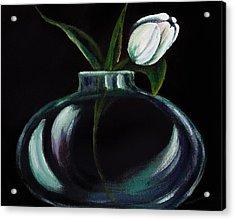 Tulip In A Vase Acrylic Print by Georgia Pistolis
