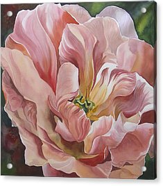 Acrylic Print featuring the painting Tulip In Pink by Alfred Ng