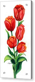 Acrylic Print featuring the painting Tulip Time by Barbara Jewell
