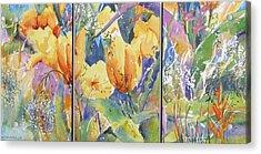 Tulip Triptych Acrylic Print