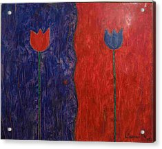 Acrylic Print featuring the painting Tulip by Walter Casaravilla