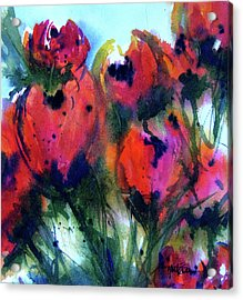 Acrylic Print featuring the painting Tulips 2 by Marti Green
