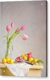 Tulips And Fruit Acrylic Print