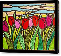 Tulips At Sunrise Acrylic Print