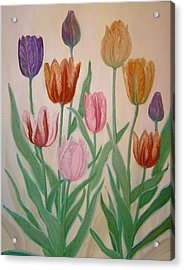 Tulips Acrylic Print by Ben Kiger