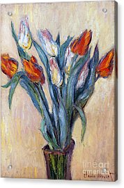 Tulips Acrylic Print by Claude Monet