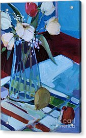 Acrylic Print featuring the painting Tulips by Diane Ursin