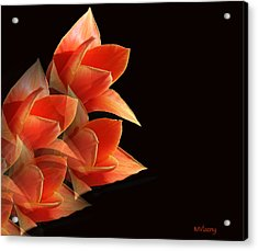 Tulips Dramatic Orange Montage Acrylic Print