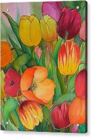Tulips Acrylic Print by Evelyn Antonysen