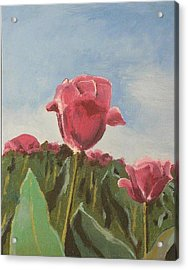 Acrylic Print featuring the painting Tulips Festival Ottawa by Geeta Biswas