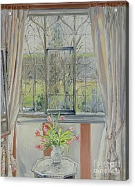Tulips For A January Morning Acrylic Print by Timothy Easton