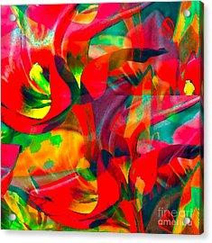 Acrylic Print featuring the digital art Tulips IIi by Loko Suederdiek
