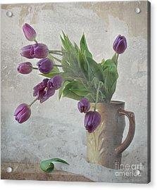 Tulips Acrylic Print by Irina No