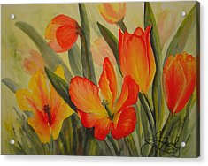 Tulips Acrylic Print by Joanne Smoley
