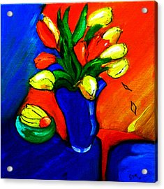 Tulips On My Table Acrylic Print