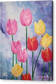 Flying Lamb Productions     Simply Tulips - Red-yellow-pink Acrylic Print