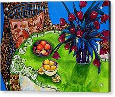 Tulips Sea Side Acrylic Print by Patti Schermerhorn