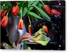 Acrylic Print featuring the photograph Tulips by Sharon Jones