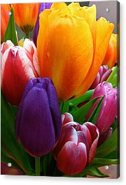 Acrylic Print featuring the photograph Tulips Smiling by Marie Hicks