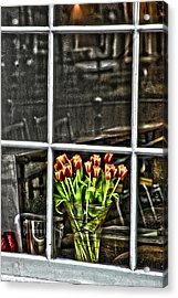 Tulips Window Acrylic Print by Marco Moscadelli