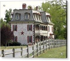 Acrylic Print featuring the photograph Tulpehocken Manor Plantation Historic Site  by David Dehner