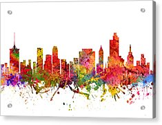 Tulsa Cityscape 08 Acrylic Print by Aged Pixel