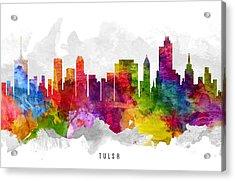 Tulsa Oklahoma Cityscape 13 Acrylic Print