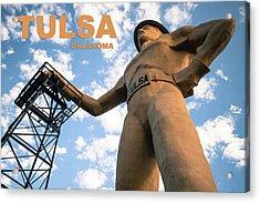 Tulsa Oklahoma Golden Driller Fine Art Acrylic Print