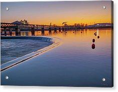 Tulsa Oklahoma's Pedestrian Bridge Over The Arkansas River Acrylic Print