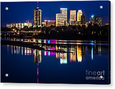 Tulsa Skyline At Twilight Acrylic Print