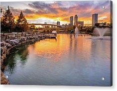 Tulsa Skyline Sunset - Oklahoma Cityscape Acrylic Print