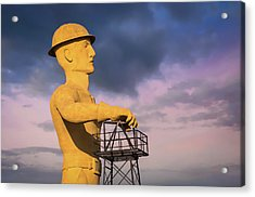 Tulsa's Golden Driller Up Close - Tulsa Oklahoma Art Acrylic Print
