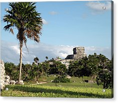 Acrylic Print featuring the photograph Tulum Mexico by Dianne Levy