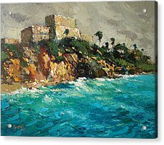 Tulum. Mexico Acrylic Print by Dmitry Spiros