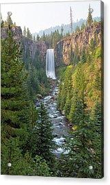 Tumalo Falls In Bend Oregon Acrylic Print by David Gn