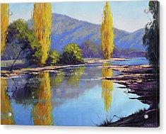 Tumut River Poplars Acrylic Print