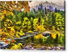 Tumwater Autumn Acrylic Print