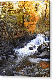 Tumwater Falls In The Autumn Acrylic Print