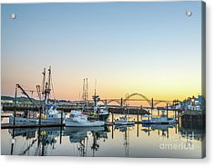 Tuna Boats Resting For The Night Acrylic Print