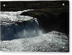 Tungufljot River And Faxi Falls Acrylic Print by David Halperin
