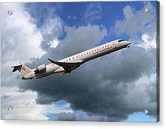 Tunisair Express Bombardier Crj-900er Acrylic Print