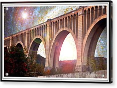 Tunkhannock Viaduct, Nicholson Bridge, Starry Night Fantasy Acrylic Print