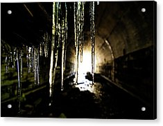 Tunnel Icicles Acrylic Print