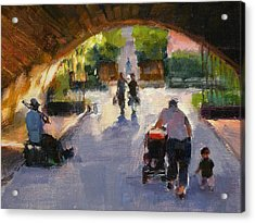 Tunnel In Central Park Acrylic Print by Merle Keller