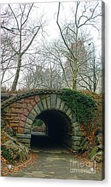 Acrylic Print featuring the photograph Tunnel On Pathway by Sandy Moulder