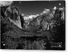 Tunnel View Black And White  Acrylic Print